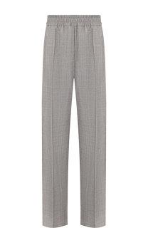 Шерстяные брюки с эластичным поясом и контрастными лампасами CALVIN KLEIN 205W39NYC