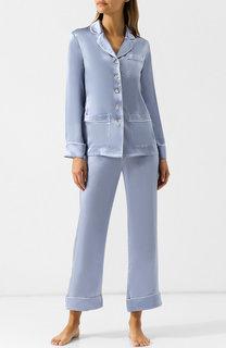 Шелковая пижама с контрастной отделкой Olivia Von Halle