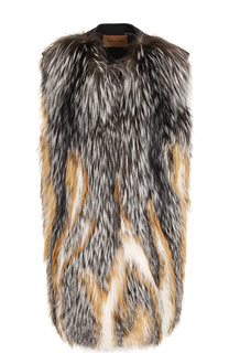Шерстяной жилет с отделкой из меха лисы Yves Salomon