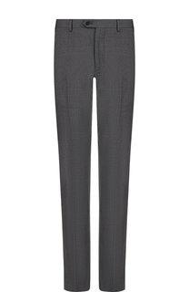 Шерстяные брюки прямого кроя Emporio Armani