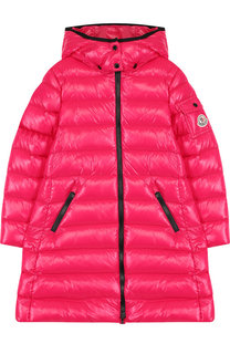 Пуховое пальто на молнии с капюшоном Moncler Enfant