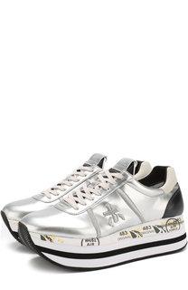 Комбинированные кроссовки Beth на шнуровке Premiata