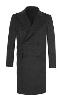Двубортное пальто из шерсти Z Zegna