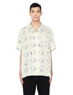 Бежевая шелковая рубашка с принтом Visvim