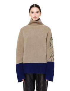 Двухцветный свитер с вышивкой Haider Ackermann