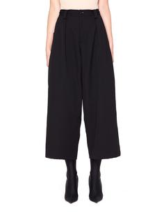 Укороченные шерстяные брюки с защипами Y`s