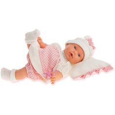 Кукла Ланита на бежевой подушке, 27 см, Munecas Antonio Juan