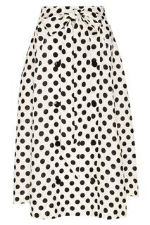 Льняная юбка в горошек Lisa Marie Fernandez