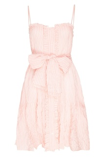 Розовое платье на бретелях Lisa Marie Fernandez