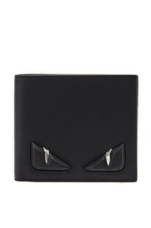 Кожаный кошелек с аппликацией Fendi