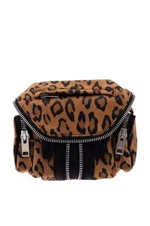 Кожаная сумка с леопардовым принтом Alexander Wang