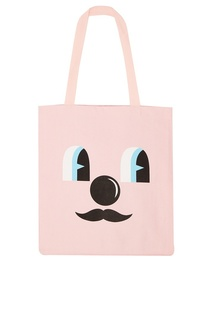 Розовая сумка из хлопка с принтом Q-Tees Of California/ Print Jeremyville