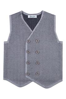 Серый жилет из текстурированного джерси Jacote