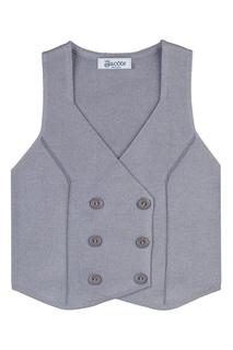Серый двубортный жилет Jacote