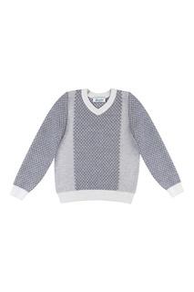 Серый пуловер с текстурированной отделкой Jacote