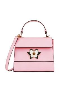 Розовая кожаная сумка Mughetto Furla