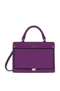 Фиолетовая кожаная сумка Like Furla