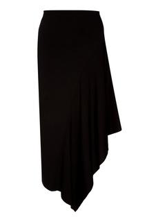 Черная юбка с асимметричной деталью Ruban