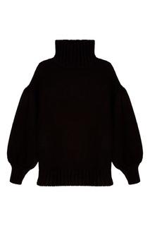 Черный шерстяной свитер Laroom