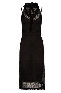 Черное кружевное платье Altuzarra