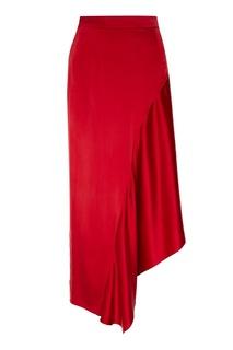 Красная шелковая юбка Ruban
