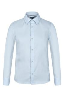 Голубая сорочка из хлопка Junior Republic