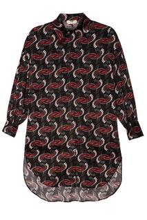 Шелковое платье-рубашка Fendi