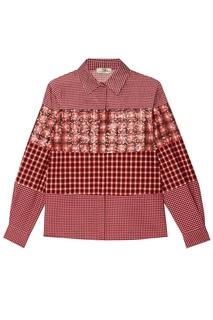 Рубашка с комбинированным дизайном в клетку Fendi
