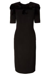 Черное платье с бантами Fendi