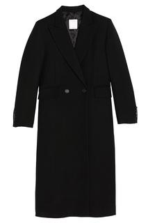 Черное пальто из шерсти Sandro