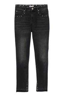 Черные джинсы с люверсами Sandro