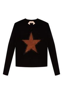 Черный джемпер со звездой No.21