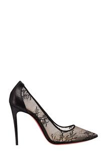 Черные туфли с кружевом Lace 554 100 Christian Louboutin