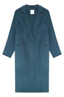 Шерстяное пальто мятного цвета Sandro