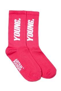 Розовые носки с надписью Artem Krivda