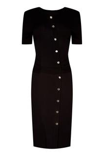 Черное платье с пуговицами Altuzarra