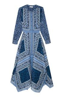 Шелковое платье с комбинированным принтом Altuzarra