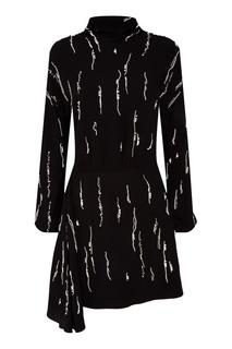 Черное платье с кристаллами Prada