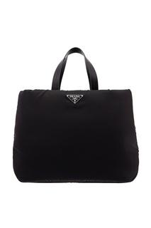 Черная сумка из ткани Prada