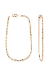 Крупные золотистые серьги Caviar Jewellery