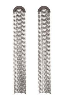 Длинные серьги с цепочками Caviar Jewellery