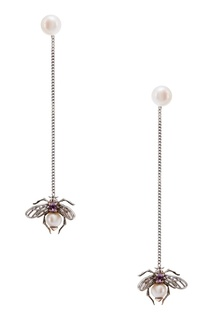 Серебряные серьги с жемчугом и аметистом Axenoff Jewellery