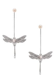 Серебряные серьги с жемчугом и топазами Axenoff Jewellery