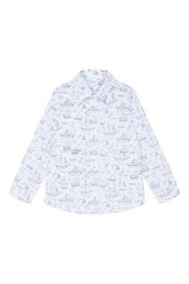 Голубая рубашка с принтом Bubbles