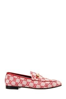 Текстильные лоферы с монограммой Gucci