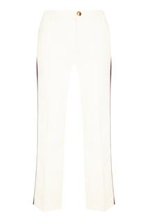 Белые брюки с лампасами Gucci
