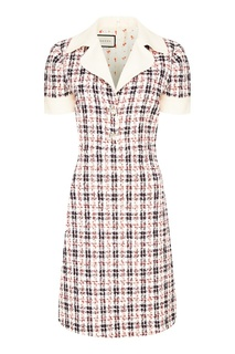 Платье-миди в клетку Gucci