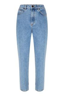 Голубые потертые джинсы Maje