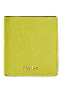 Зеленый кожаный кошелек Babylon Furla