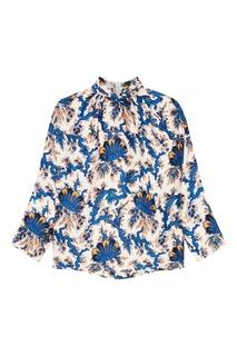Блузка с контрастным принтом Sandro